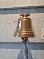 Signalglocke Ø 10,0 cm, mit Halterung und Bändsel